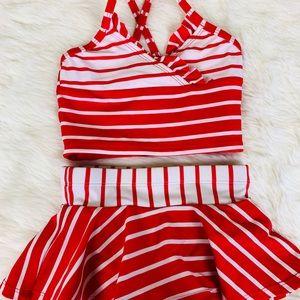 Hanna Andersson Girls Bikini Swimsuit size 80